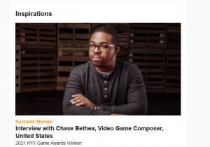 Chase Bethea Musedotworld NYX game awards article